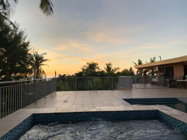 Sunset view from pool