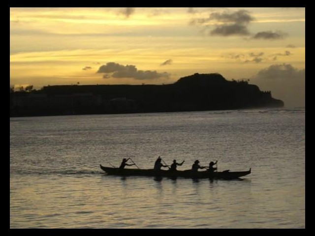 Rowing on Tumon Bay